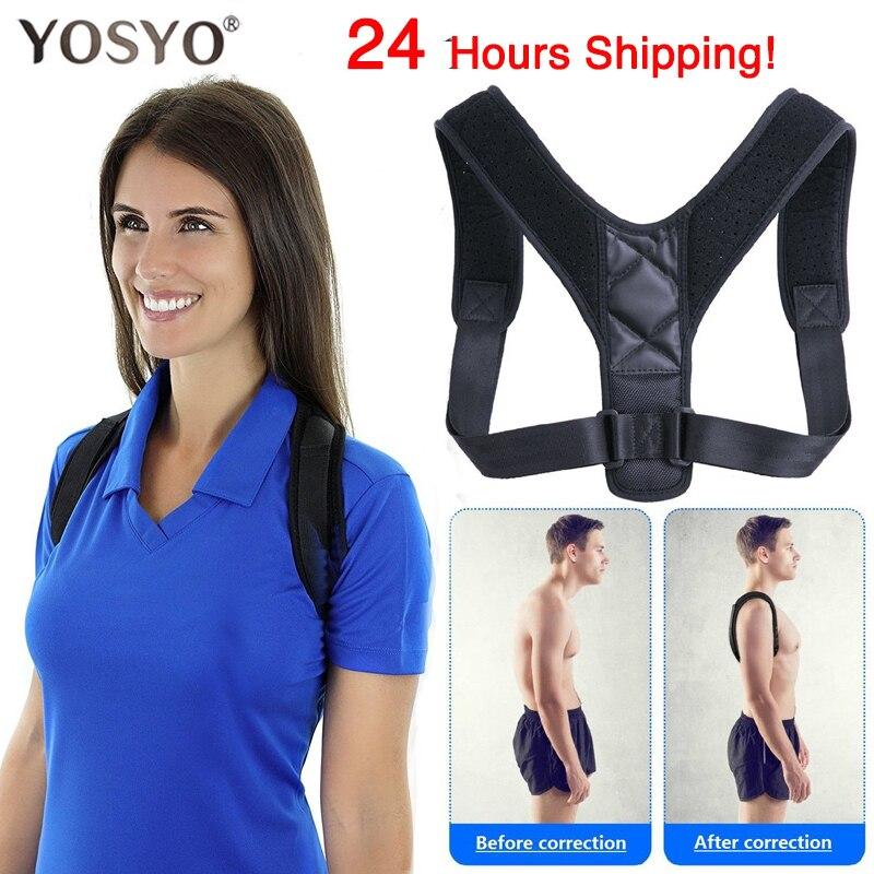 YOSYO Brace destek kemeri ayarlanabilir sırt postür düzeltici klavikula omurga sırt omuz bel duruş düzeltme