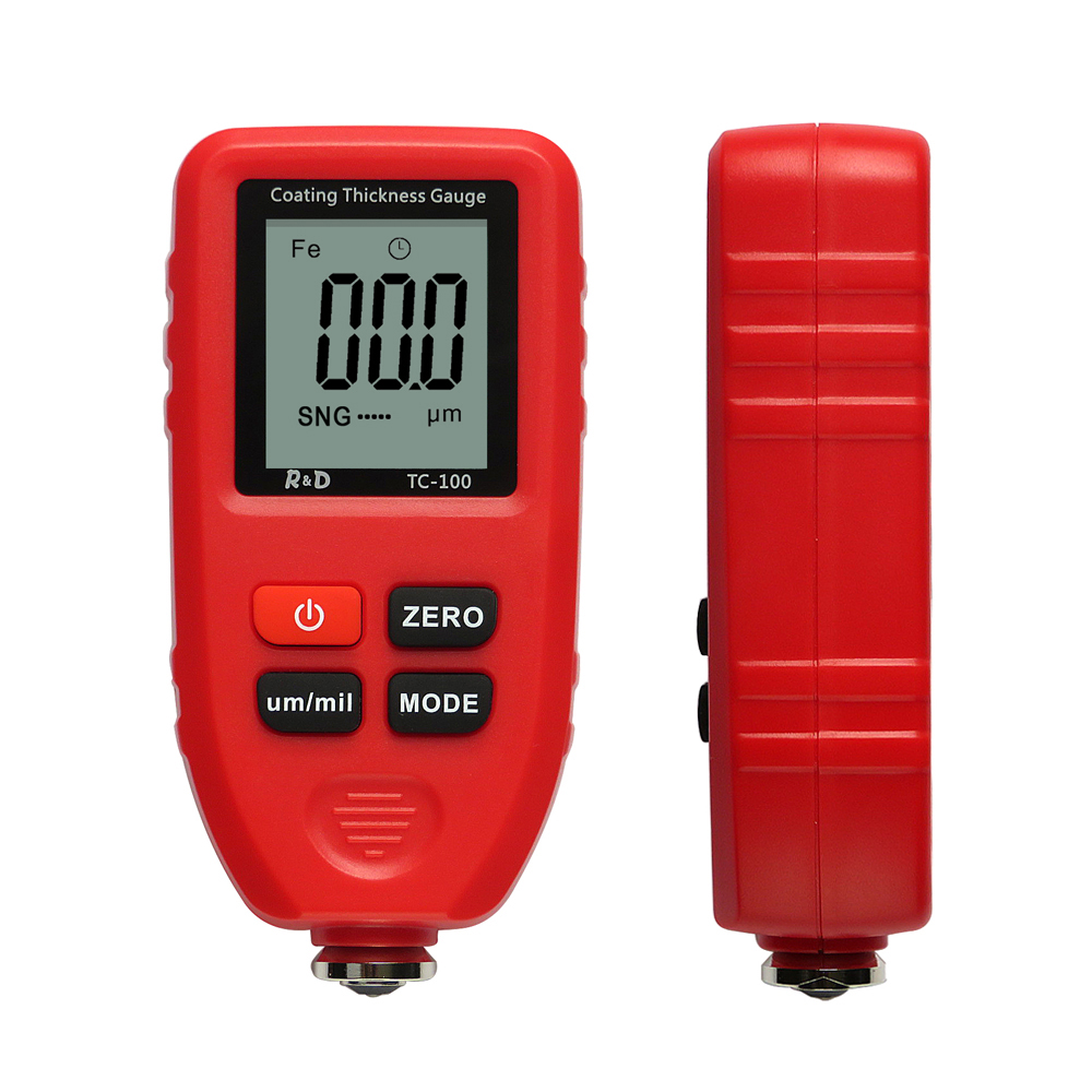 R amp D TC100 Coating Thickness Gauge Car Paint Film Thickness Tester Measuring FE NFE Russian Manual Paint Tool 0 1micron 1300um