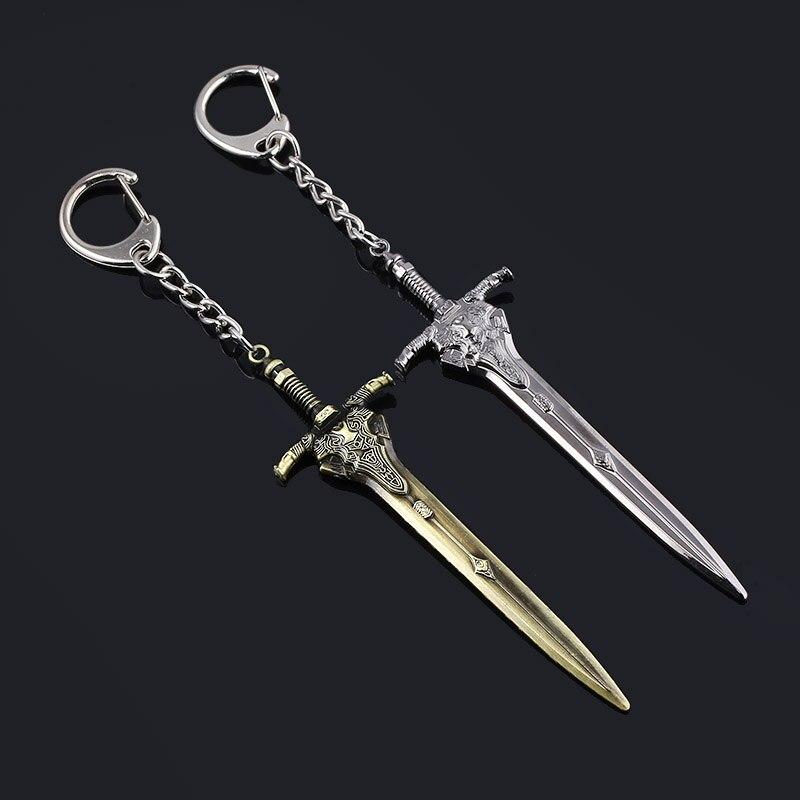 SG Hot Game  Abyss Walker Knights Keychains Artorias Sword Solaire Of Astora Sun Men Car Bag Pendant Keyring Jewelry
