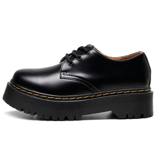 Oxford Shoes For Women First Layer Of Dermis Platform Women Punk Shoe Thick Bottom  Motorcycle Shoes Mujer Motorcycle Boots34-45
