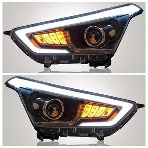 Vland fabricante acessórios para lâmpada de cabeça do carro para ix25 led farol 2014 cabeça luz com xenon hid lente do projetor