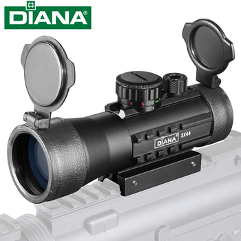 3X44 Green Red Dot Sight Scope Tactical Optics Riflescope Fit 11/20mm Rail Rifle Scopes for Hunting hawke 6 5 20x42 sf riflescope mil dot hunting optics scope high performance rifle scope with optical sight for hunting scopes