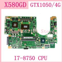 X580GD With GTX1050/4G I7-8750CPU 60NB0HX0-MB1202 Motherboard For ASUS X580 X580