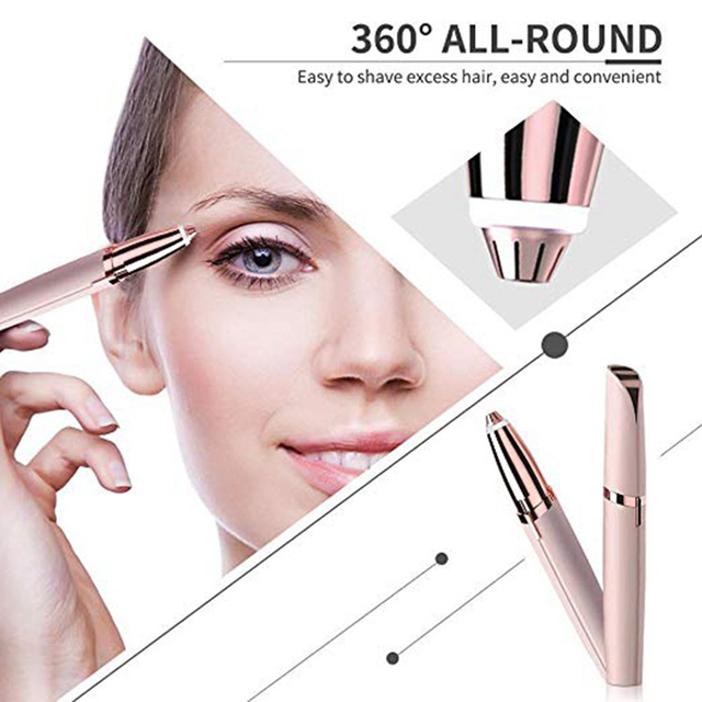 Brow Shaping Trimmer Electric Eyebrow Razor Shaver Hair Remove Quick & Painless Easy to Use Femme Make Up Eye Brow Shaper 2