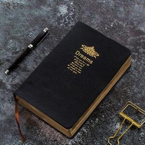 Image 1 - Carnet de notes Super épais à bordure dorée, bloc notes doux, impression à chaud, grande peinture, écriture pour Journal intime, cadeau