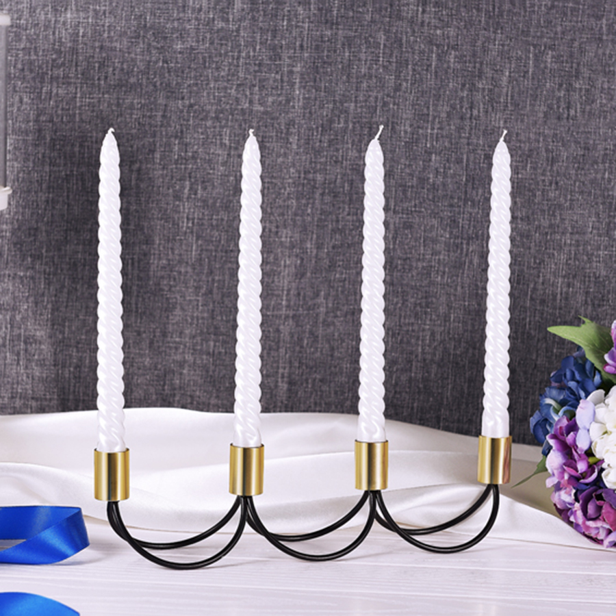 Stainless Steel Moroccan Candlesticks Romantic Gold Candle Holders Nordic Home Decor Yankee Candle Swiecznik Knutselen CC50ZT