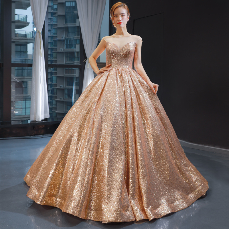 Mrs Win Quinceanera Dress Luxury Bling Bling Party Dress Classic Ball Gown Vintage Sequin Foraml Prom Gown Quinceanera Dresses