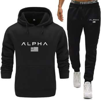цена на Brand  Men's Casual Sweatshirts Pullover Cotton Thermo Underwear Fleece Hoodies Two Piece + Pants Sport Shirts Autumn Winter Set