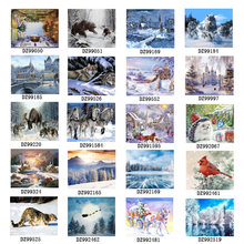 Картина по номерам «Снежный пейзаж»