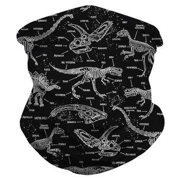 Unisex Magic Bandana Neck Gaiter Tube Dinosaur Fossils Fish Scales Digital Print Motorcycle Multifunctional Face Mask - discount item  25% OFF Scarves & Wraps