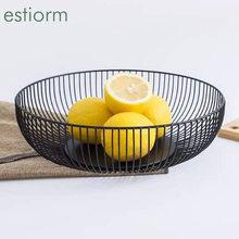 Металлическая проволочная корзина для фруктов большая круглая