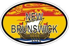 Aufkleber Oval Flagge Code Land Kanada Neue Brunswick Aufkleber für Autos, Motos, Laptops, Industrie