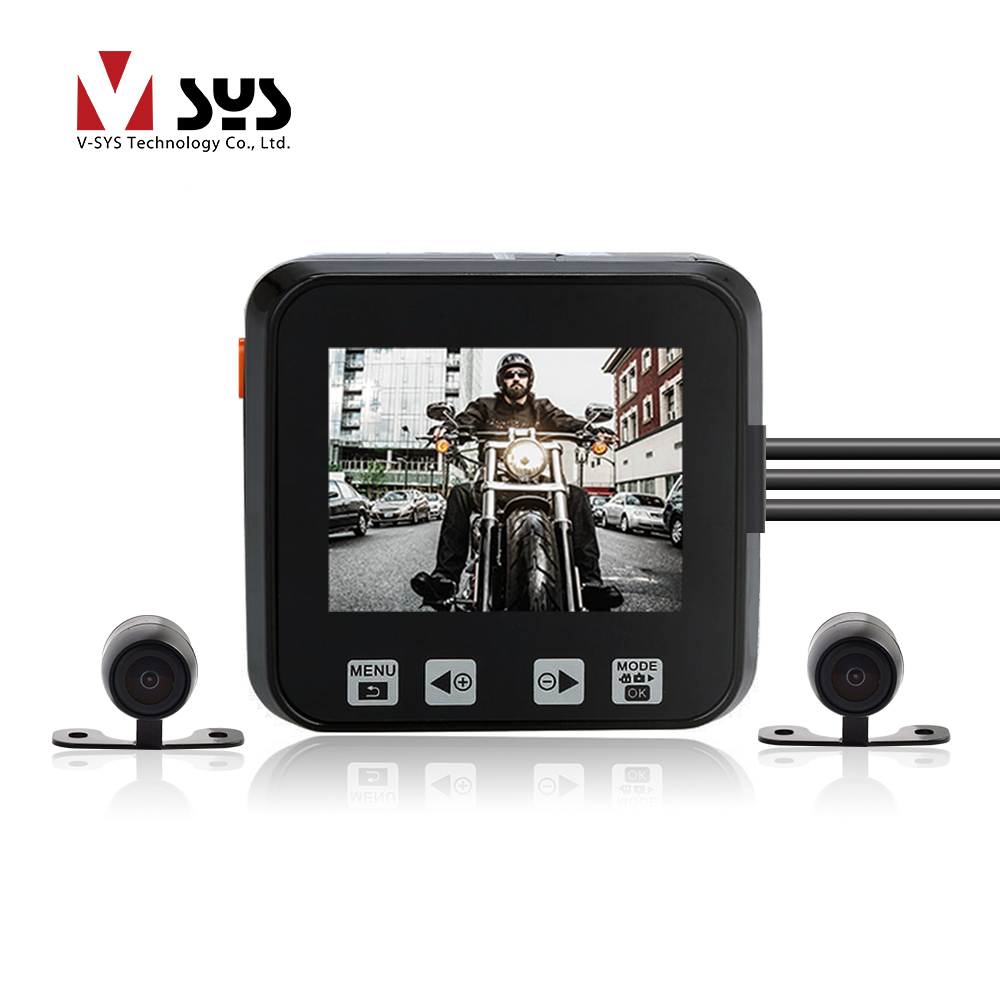 SYS VSYS M6L Upgrade M6 WiFi Dual Motorcycle Camera Recorder Moto DVR Motorbike Dash Cam Front SONY IMX 323 1080P Rear View 720P