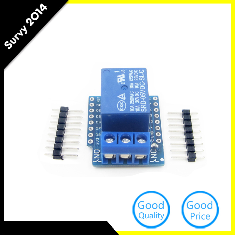 10 Pcs NEW Relay Shield WeMos D1 Mini ESP8266 Development Board Smart Electronics Relay Module diy electronics image
