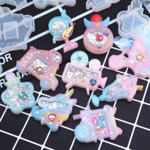 1pc Camer Global Drink Shaker Silicone Molds Jewelry Mold Star Bear Key Chain Charm Jewelry Craft Tool