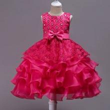 BAcklakeGirls/ бальное платье органза, круглый вырез, без рукавов, с блестками, платье с цветочным узором для девочек вечерние платья до колена с бантом для свадьбы