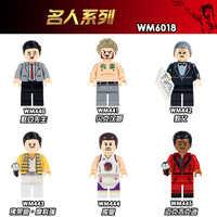 WM6018 venta única de bloques de construcción de plástico para niños de personajes de dibujos animados de Mr. Bean David Beckham