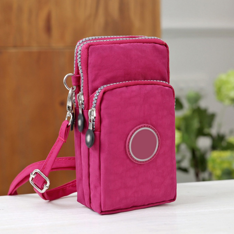 Fashion Zippers Mobile Phone Bags Coin Pocket Women Small Shoulder Bags Crossbody Bags Wrist Handbag
