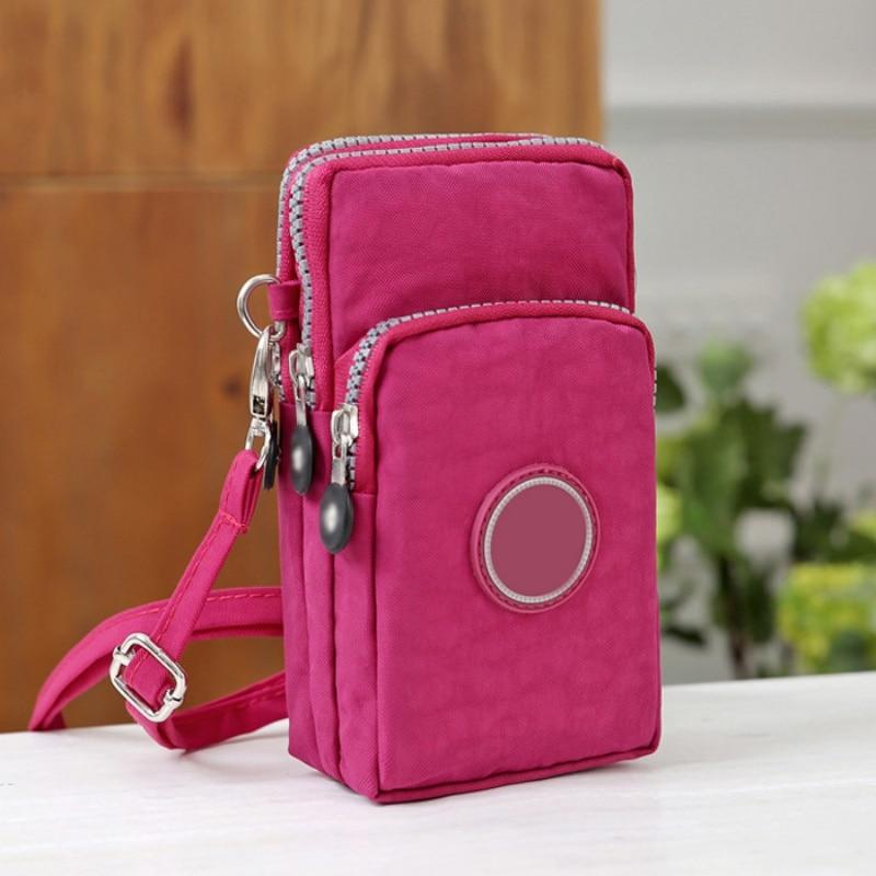 Fashion Zippers Mobile Phone Bags Coin Pocket Women Small Shoulder Bags Crossbody Bags Wrist Handbag