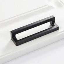 Современные промышленные стильные полые квадратные ручки черные