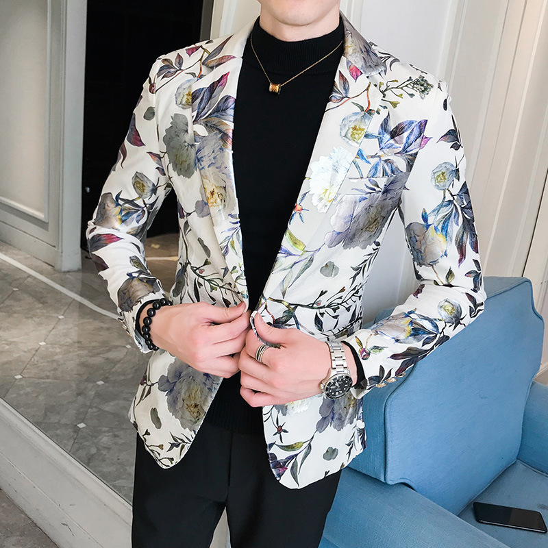 BOO New Youth In The Fall Of 2019 Printed Suit Men's Cultivate One's Morality Design And Color Suit