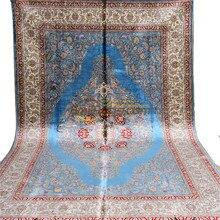 HandKnotted Flooring Wool And Silk Rug Handmade Livingroom Carpets