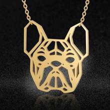 100% Stainless Steel Animal Bulldog Fashion Necklace for Women Special Gift Wedding Party Necklaces Wholesale(China)