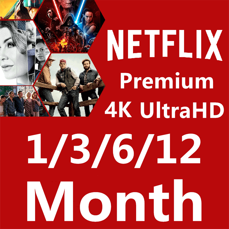 6 mois 3 mois 1 mois Netflix Global Europe moyen 4 écran ultra hd, garantie PC smart TV décodeur Android IOS tablette