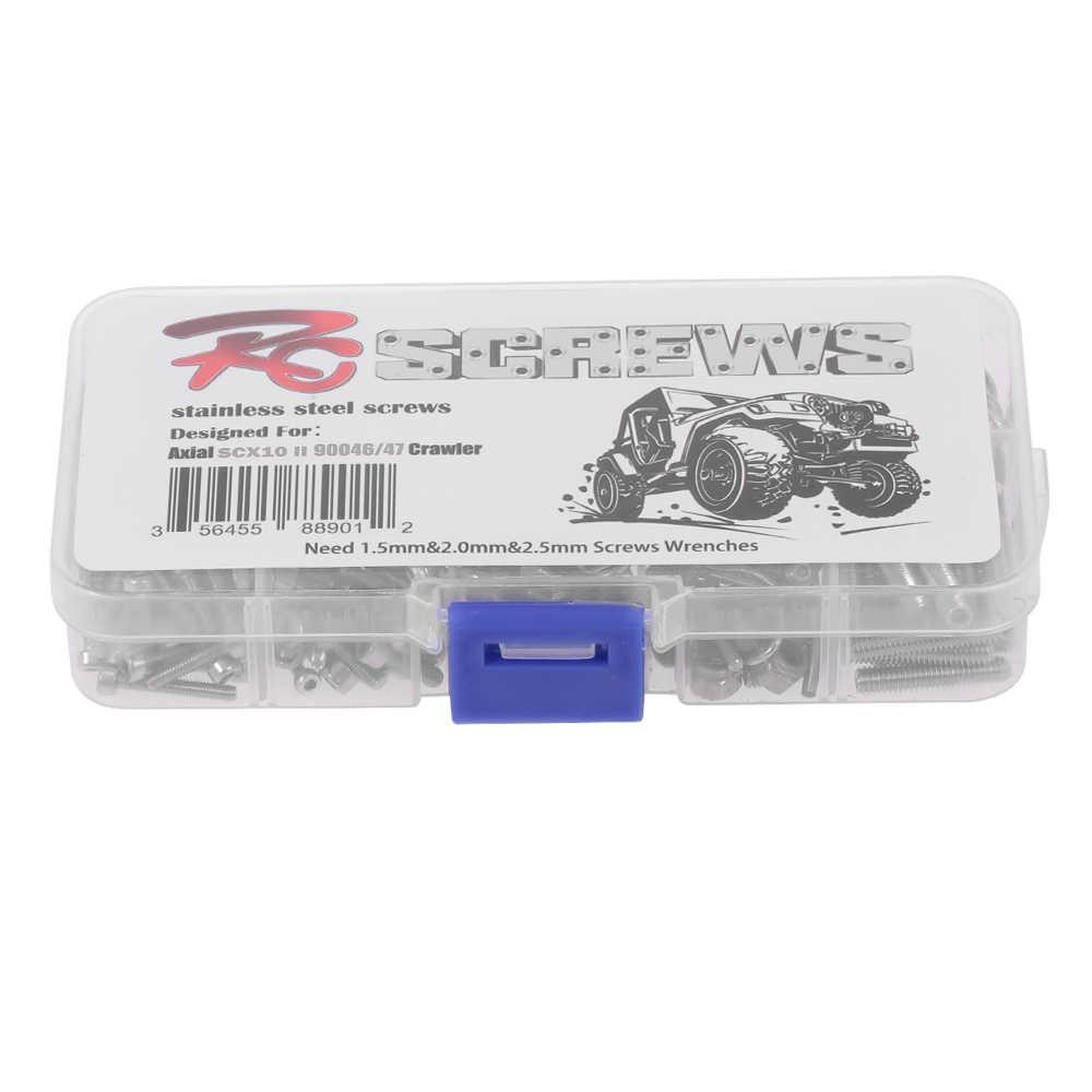 RC Schroeven Roestvrijstalen Schroeven Kit met Case voor Traxxas SCX10 II 90046 90047 RC Auto Off-road Truck