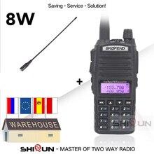 8W BaoFeng UV 82 telsiz çift bant ile NA 771 VHF / UHF UV 82 Walkie Talkie 10 KM UV82 Baofeng 8W radyo 10 KM UV 9R UV 5R