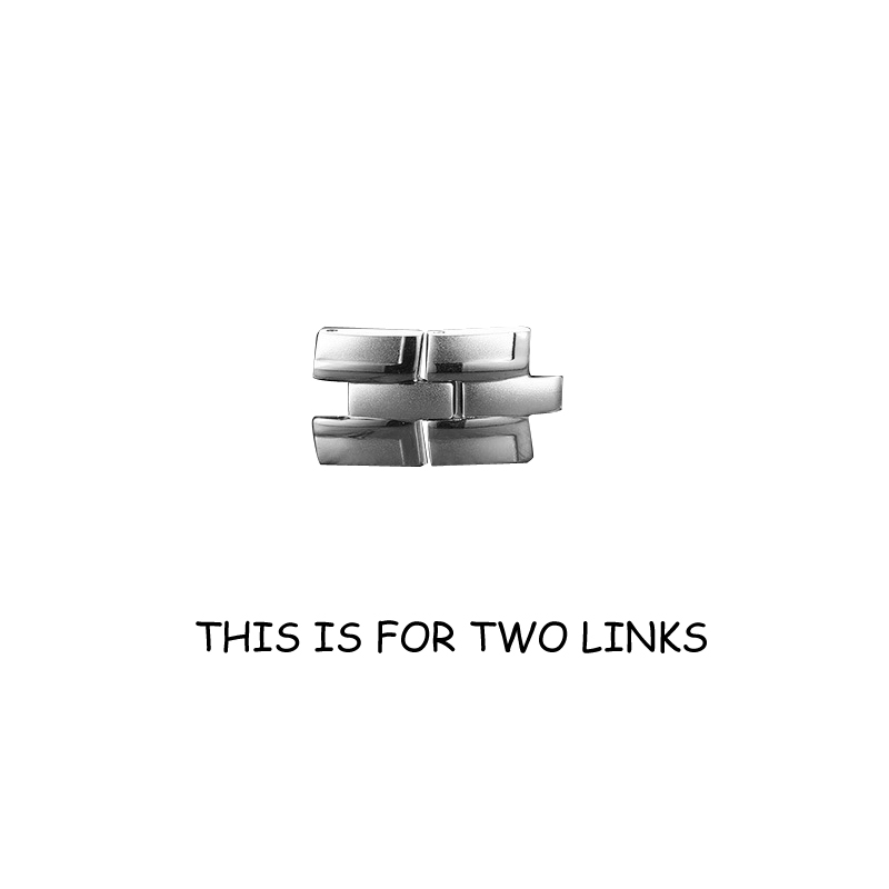 2 silver links