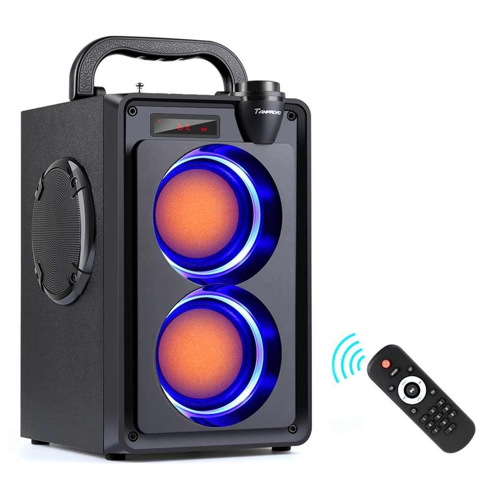TOPROAD Portabel 20W Bluetooth Speaker Big Power Wireless Stereo Bass Subwoofer Outdoor Pesta Lampu Speaker Mendukung FM Radio