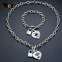 Vnox Unique Customize Icon Symbol Heart Charm Bracelets for Women Men Never Fade Stainless Steel Personalize Family Gift
