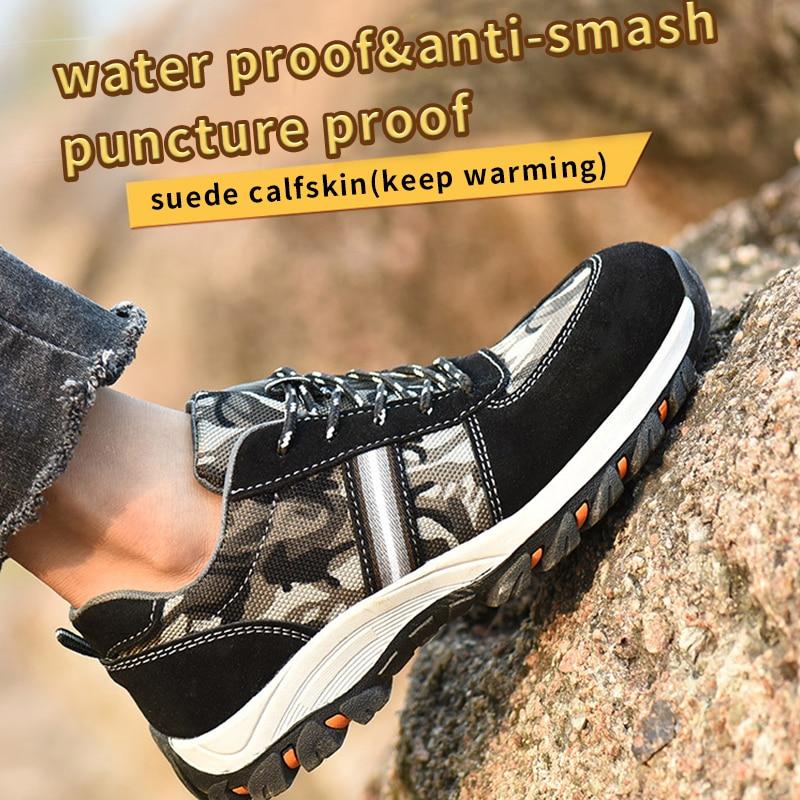 Safety Shoes man zapatos de seguridad chaussure de securite pour homme sicherheitsschuhe vans sport shoes worker steel toe