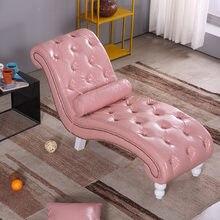 Chaise longue européenne salon beauté canapé chambre simple balcon simple paresseux tissu canapé chaise sieste petite chaise longue