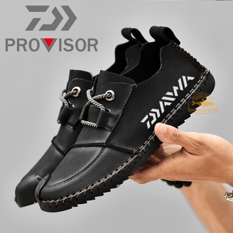 2020 daiwa masculino pesca sapatos de couro