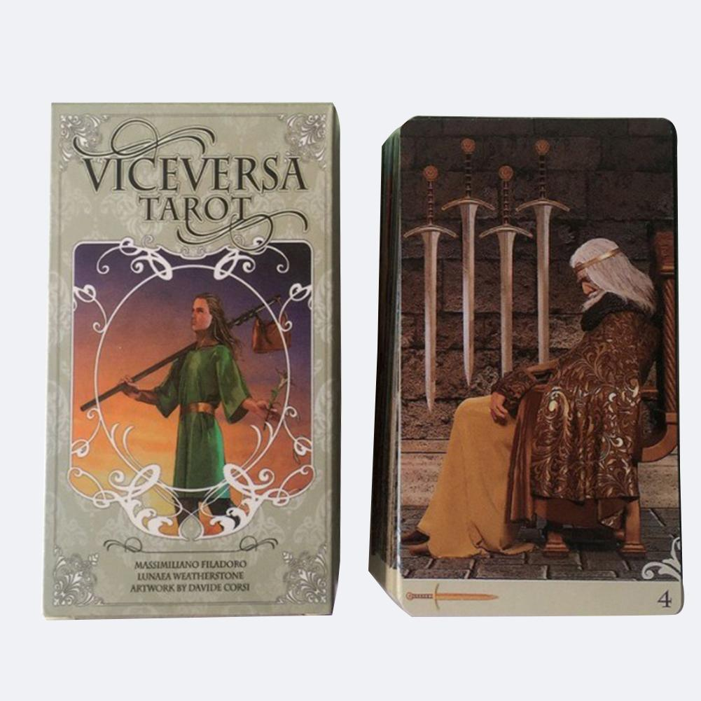 78pcs Vice Versa Tarot Kit Tarot Cards Oracle Deck Board Games For Party Playing Card Table Game Entertainment