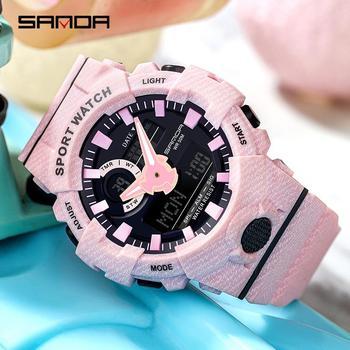 Sanda Fashion Top Brand Men Sport Watch For Male Female Waterproof Led Electronic Watch Women  Digital Outdoor Sport Watches
