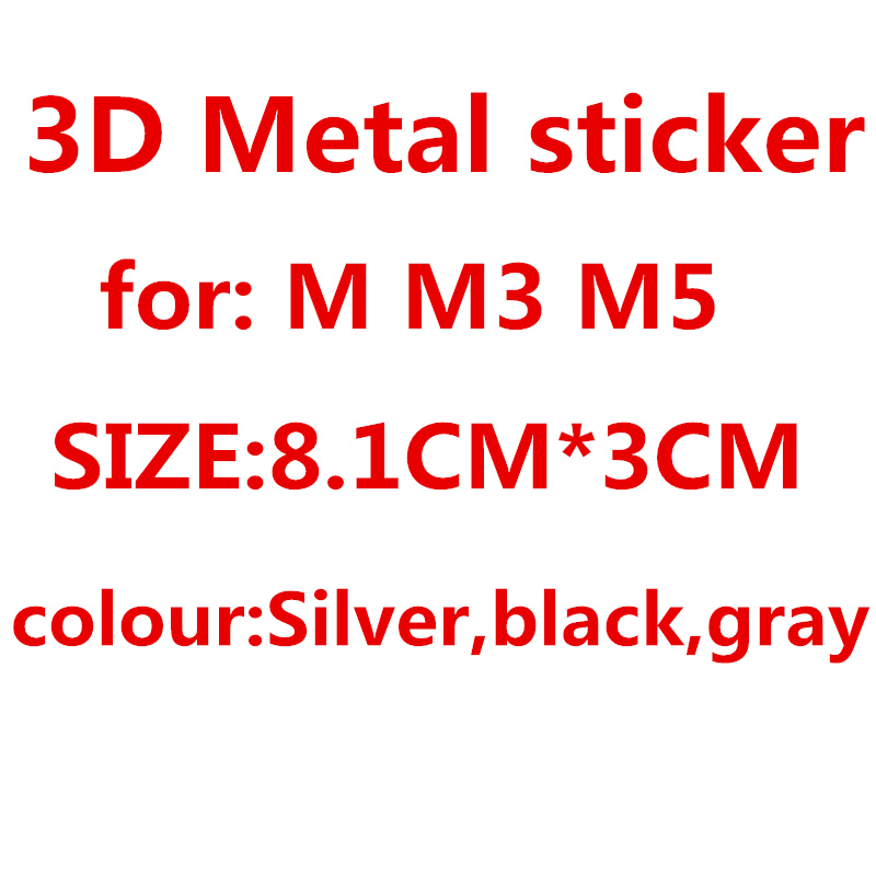 De moda accesorios de coche 3D Metal M M3 M5 emblema insignia pegatina para Bmw x1 x5 x3 x6 z4 f10 f20 f30 e39 e36 e46 e60 e90 etiqueta engomada del coche