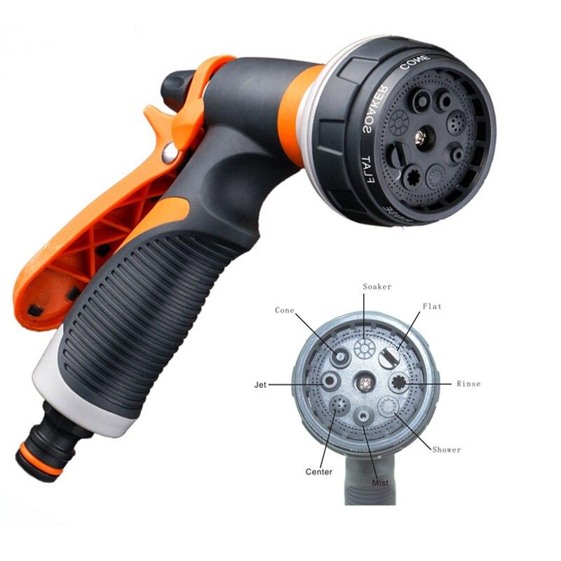 8 muster Garten Wasser Schlauch Düse für Auto Waschen Wasser Schlauch Sprayer Kopf Tragbare Hof Wasser Sprayer Rohr Rohr Werkzeuge