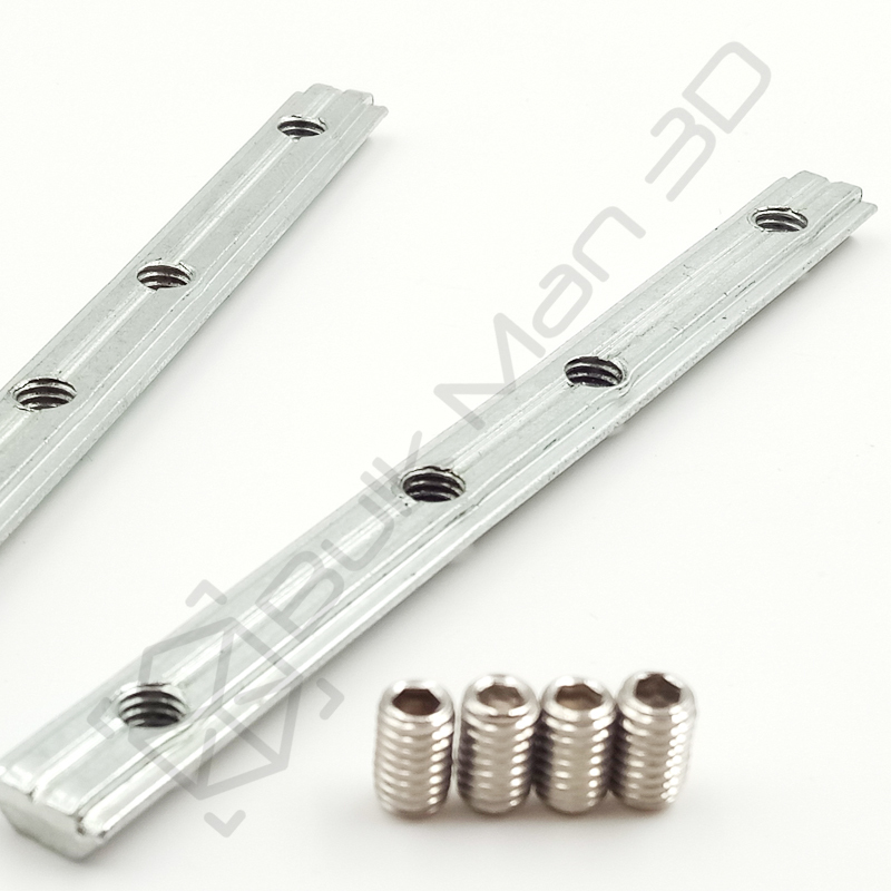 5pcs Carbon Steel Straight Inside Connector /& M5 Screws for 20 Series 6mm Slot