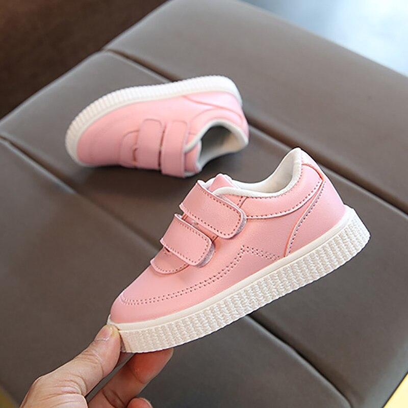 Tênis escolar infantil de couro, calçado casual