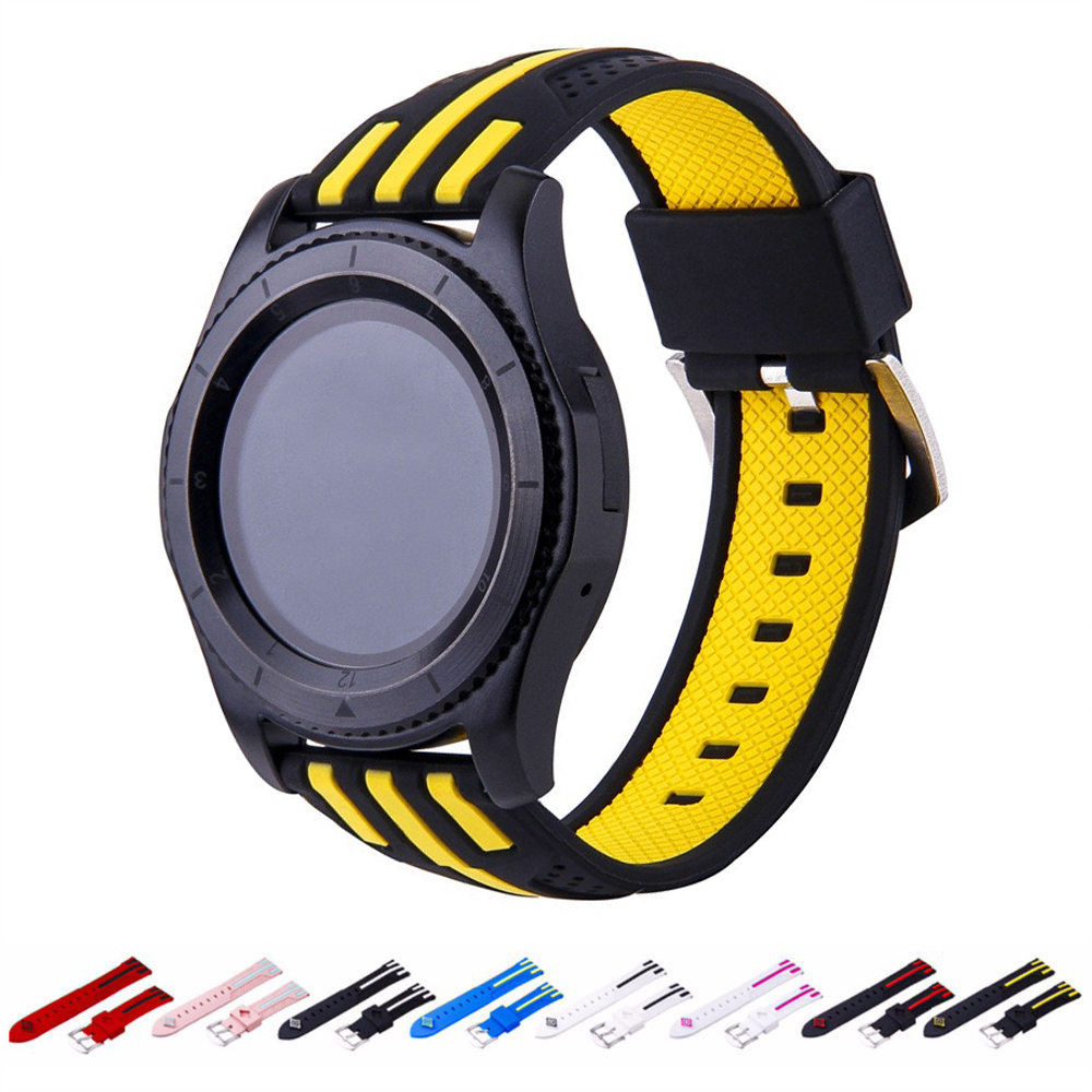 Band For Gear S3 Frontier Strap Samsung Galaxy Watch 46mm Amazfit Bip Huawei Watch Gt Strap Sport Watch Accessories 22mm Watch46