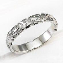 Huitan elegante esculpida flor padrão banda clássico feminino noivado anéis de casamento alta qualidade delicado feminino acessórios anéis