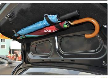 Czarny niebieski kolor wieszaki samochodowe 2 szt Parasol samochodowy haczyk do przymocowania bagażnik samochodowy wielofunkcyjny hak do przechowywania samochodu klip mocujący wnętrze tanie i dobre opinie RETFGTU 12 8cm 120g Car hook 6 4cm
