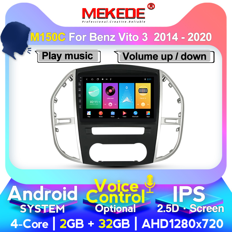 MEKEDE Car multimedia Player Navigation GPS radio For Mercedes Benz Vito 3 <font><b>W447</b></font> 2014 2015 2016- 2020 Auto FM Radio Stereo SWC image