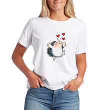 Aesthetic Hipster Animal T-shirts Plus Size Top Tee Hedgehog
