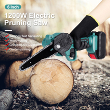 One-Handed Chain-Saw Woodworking-Tool Cordless Electric Green Rechargeable Mini for Cutting