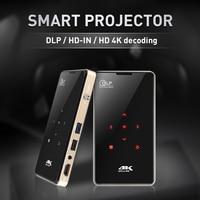 Tragbare Projektor 2G 16G S905 Bluetooth heimkino projektor Mini tasche DLP Projektor für Android tv box Projektor