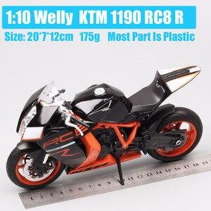 Image 2 - Welly 1:10 大規模オートバイおもちゃ KTM 1190 RC8 R スーパーバイク Diecasts おもちゃ車 KTM バイクモデルミニチュアギフト子供
